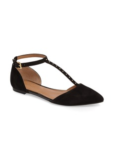 Calvin Klein Gina T-Strap Flat (Women)