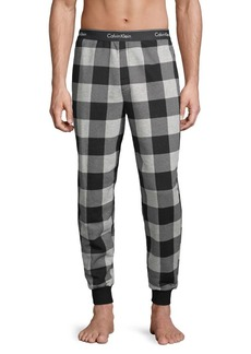Calvin Klein Gingham Cotton-Blend Pajamas