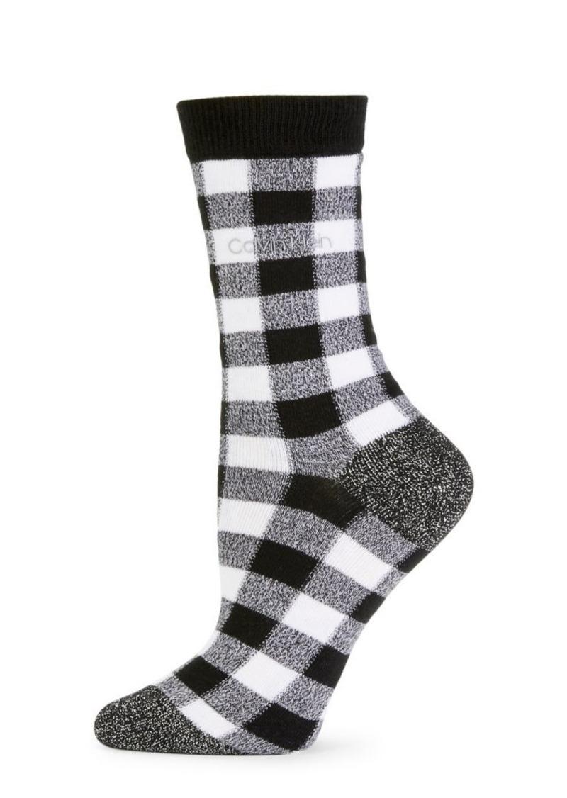 Calvin Klein Gingham Crew Socks