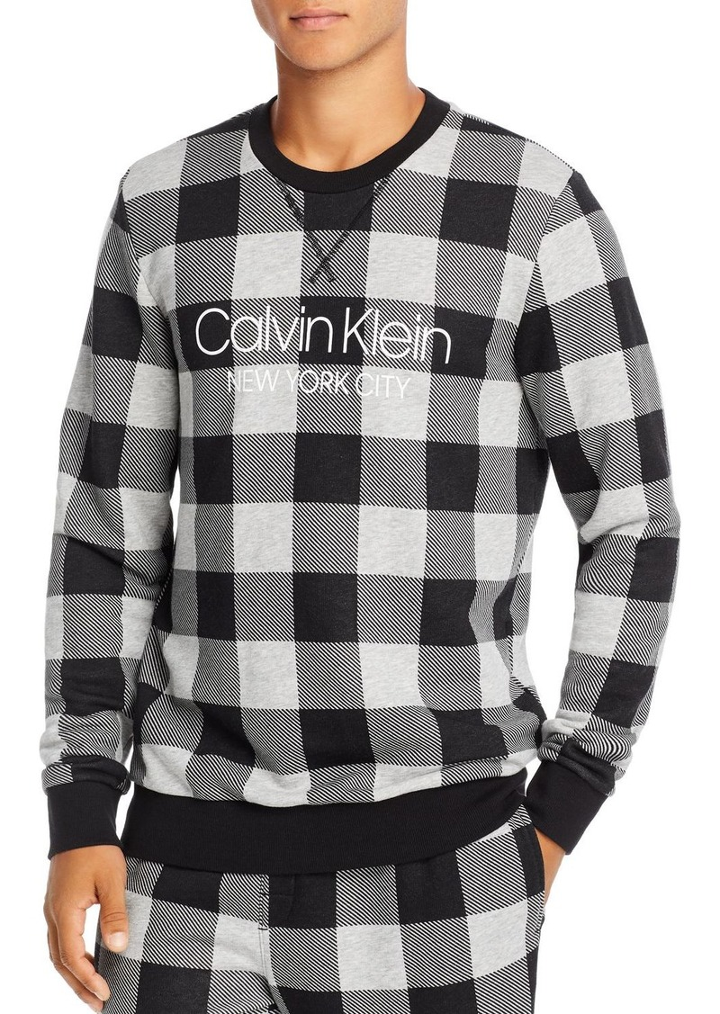 Calvin Klein Gingham Logo Sweatshirt