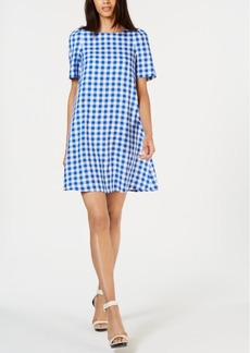 Calvin Klein Gingham-Print Shift Dress