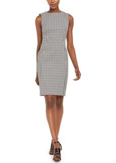 Calvin Klein Gingham Sheath Dress