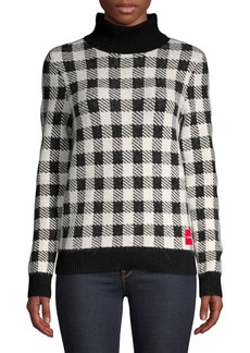 Calvin Klein Gingham Turtleneck Sweater