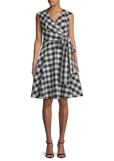 Calvin Klein Gingham Wrap Dress