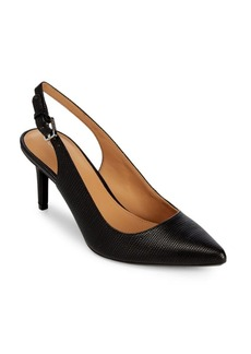 Calvin Klein Giovanna Faux Leather Slingback Pumps