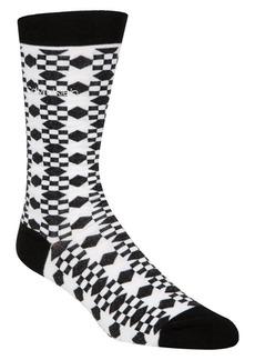 Calvin Klein Giza Quilt Crew Socks