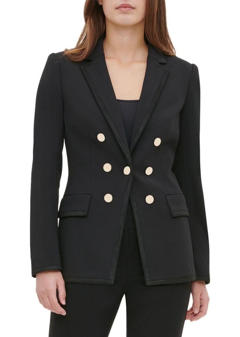 Calvin Klein Goldtone Buttoned Blazer