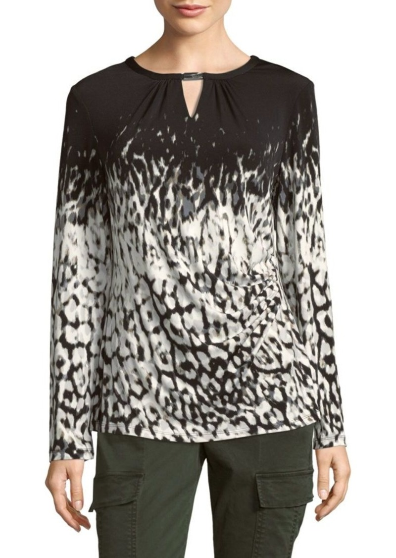 Calvin Klein Graphic Long-Sleeve Blouse