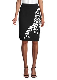 Calvin Klein Graphic Pencil Skirt