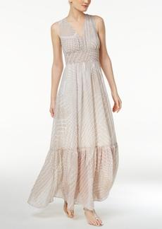 Calvin Klein Graphic-Print Chiffon Maxi Dress