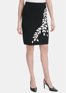 Calvin Klein Graphic Sweater Skirt