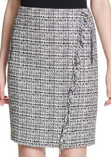 Calvin Klein Graphic Tweed Pencil Skirt