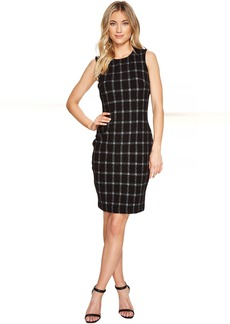Calvin Klein Grid Pattern Sheath Dress CD7P25BC