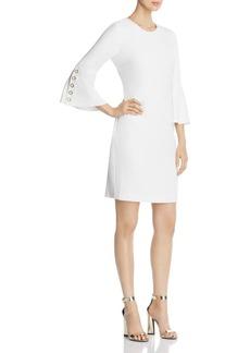 Calvin Klein Grommet Bell Sleeve Dress