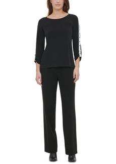 Calvin Klein Grommet-Sleeve Top