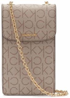 Calvin Klein Hailey Signature Chain Phone Carrier Crossbody