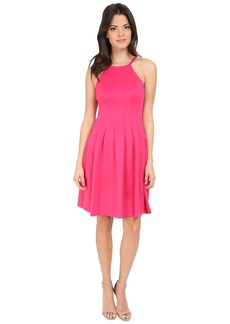 Calvin Klein Halter Neck Fit & Flare Dress CD6M1B6D