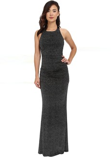 Calvin Klein Halter Neck Ruched Gown