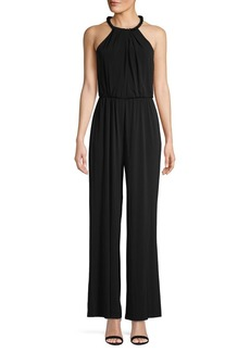 Calvin Klein Halterneck Sleeveless Jumpsuit