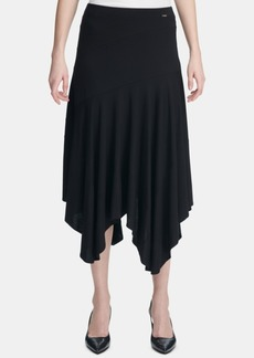 Calvin Klein Handkerchief-Hem Pull-On Skirt