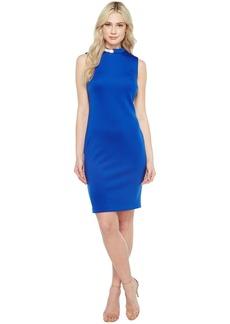 Calvin Klein Hardware Detail Neck Sheath Dress CD7M1X3A