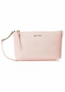 Calvin Klein Hayden Saffiano Large Chain Crossbody powder pink