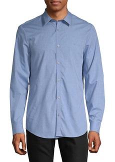Calvin Klein Heathered Button-Down Shirt