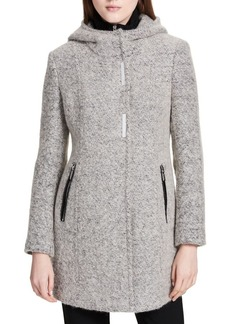 Calvin Klein Heathered Hooded Bib Jacket