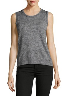 Calvin Klein Heathered Knit Top