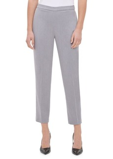 Calvin Klein Heathered Straight-Leg Pants