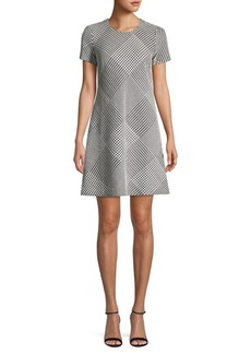 Calvin Klein Herringbone A-line Dress