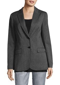 Calvin Klein Herringbone Button-Front Jacket