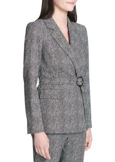 Calvin Klein Herringbone Wrap Jacket