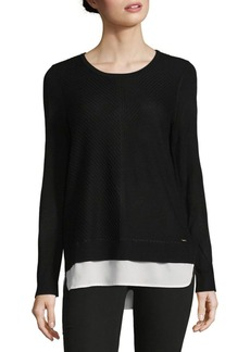 Calvin Klein Hi-Lo Long Sleeve Sweater