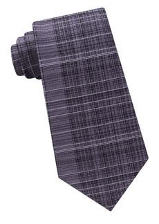 Calvin Klein Hi-Lo Plaid Silk Tie