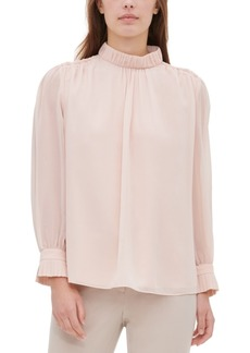 Calvin Klein High-Collar Blouse