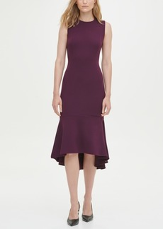 Calvin Klein High-Low Midi Scuba Dress