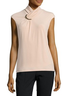 Calvin Klein High Neck Sleeveless Blouse