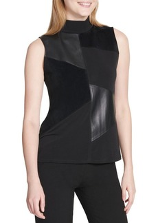 Calvin Klein High-Neck Sleeveless Top