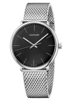 Calvin Klein High Noon Mesh Strap Watch, 40mm