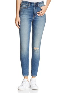 Calvin Klein High-Rise Denim Leggings in Periwinkle