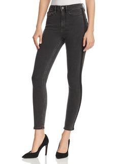Calvin Klein High-Waist Legging Jeans in Black Tux