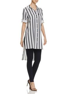 Calvin Klein High/Low Stripe Button Down Shirt