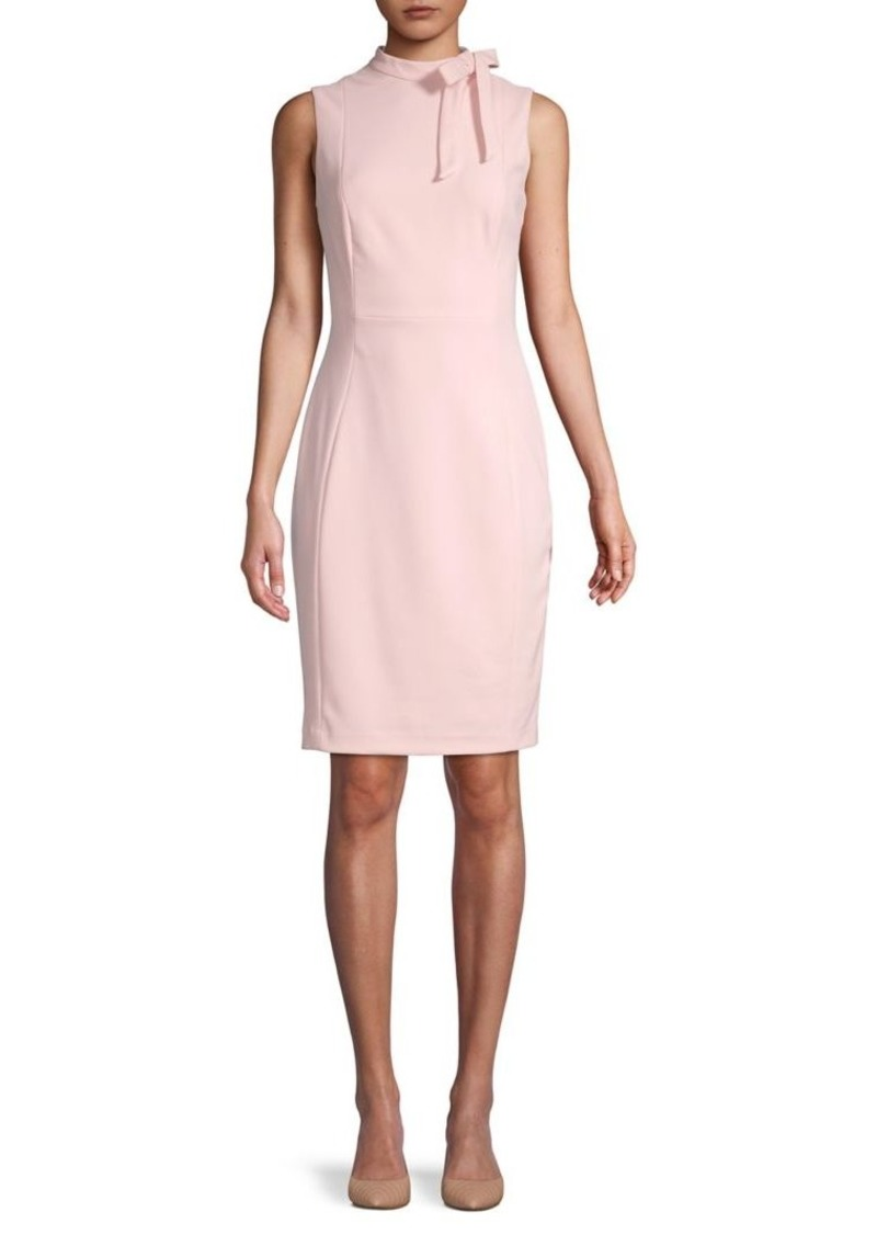 Calvin Klein Highneck Sheath Dress