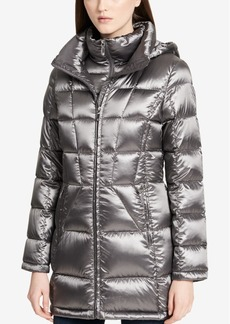 Calvin Klein Hooded Packable Down Puffer Coat