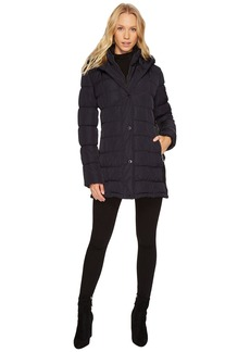 Calvin Klein Hooded Puffer Mid-Length with Knit Side