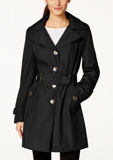 Calvin Klein Hooded Single-Breasted Water-Resistant Trench Coat