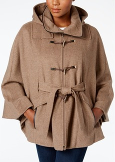 Calvin Klein Hooded Toggle Cape Coat