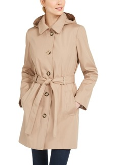Calvin Klein Hooded Water-Resistant Trench Coat