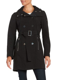CALVIN KLEIN Hooded Trench Coat